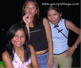 Three of the girls at the Billion Blow Job Bar